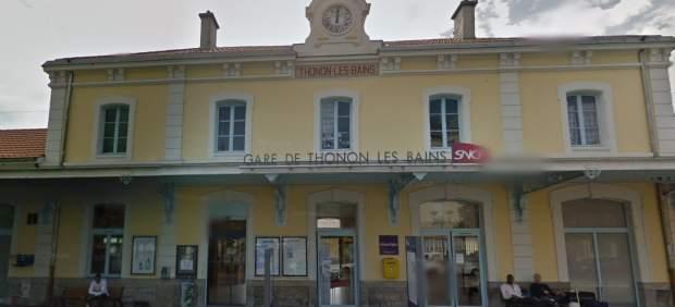 Estación de tren de Thonon-Les-Bains, desde donde partió el tren con dirección París.