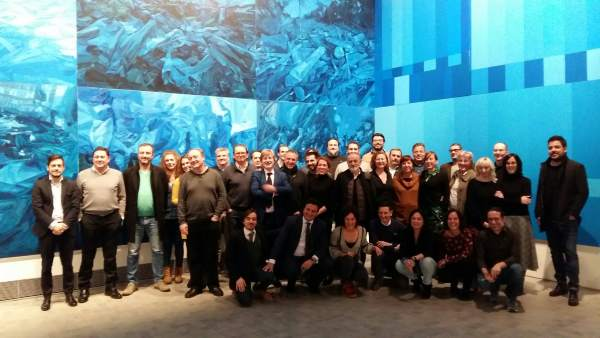 Encuentro de productores audiovisuales en el IAACC Pablo Serrano.