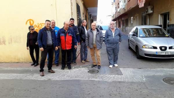 Gms Almería. Nota Y Foto Canalizaciones Gas Piedras Redondas