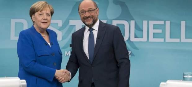 Merkel y Schulz