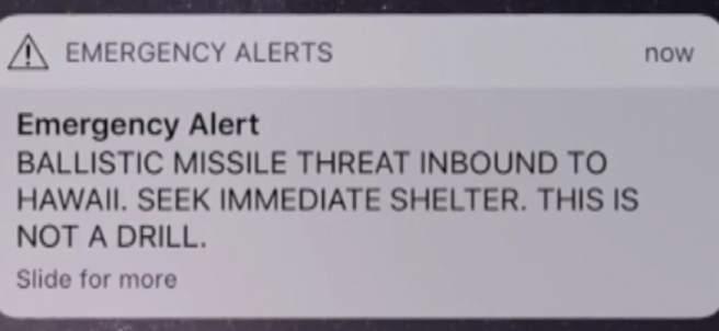 Pánico en Hawaii al dispararse por error una emergencia de ataque con misiles