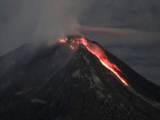 Volcán Sinabung, Indonesia