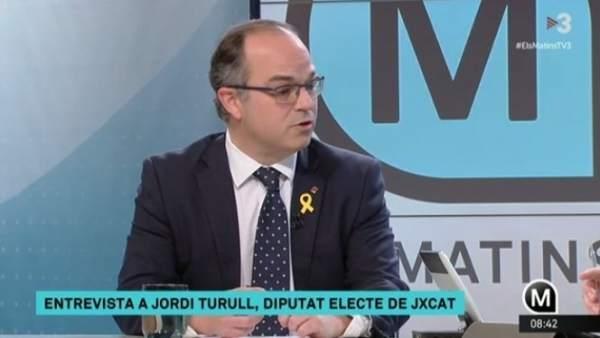 Jordi Turull (JuntsxCat) en TV3