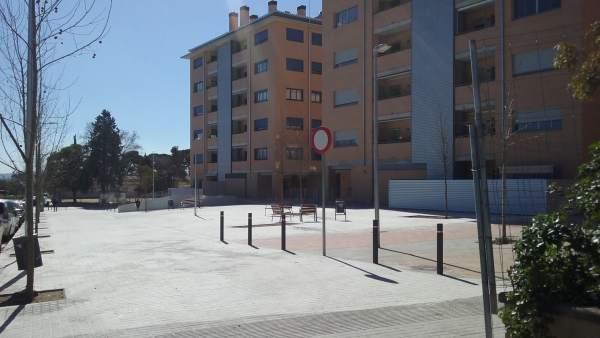 El bloque de pisos nuevos en el barrio de Arraona de Sabadell