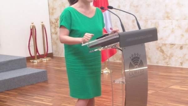 La presidenta de las Cortes, Silvia Clemente