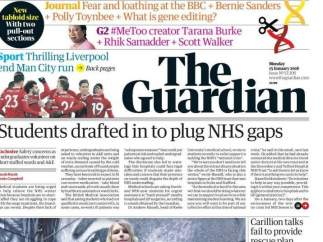 El diario británico 'The Guardian' debuta en su nuevo formato tabloide para reducir costes