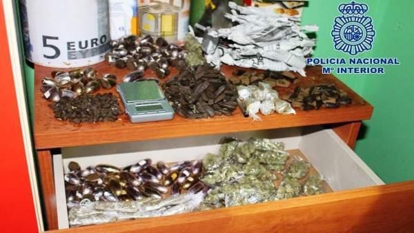 Droga incautada en un domicilio en Cádiz
