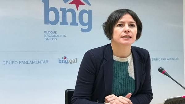 La portavoz nacional del BNG y parlamentaria, Ana Pontón