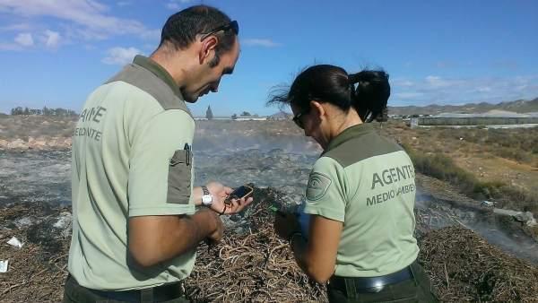 Agentes de Medio Ambiente vigilan quemas ilegales