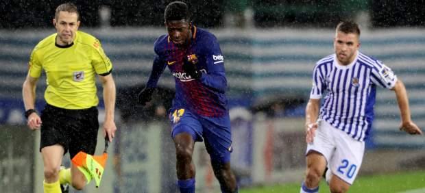 Otra lesión de Dembélé: estará cerca de un mes de baja