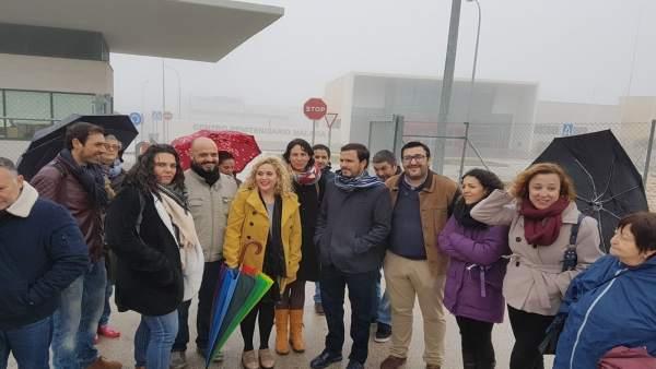 Alberto Garzón IU archidona málaga carcel centro penitenciario visita