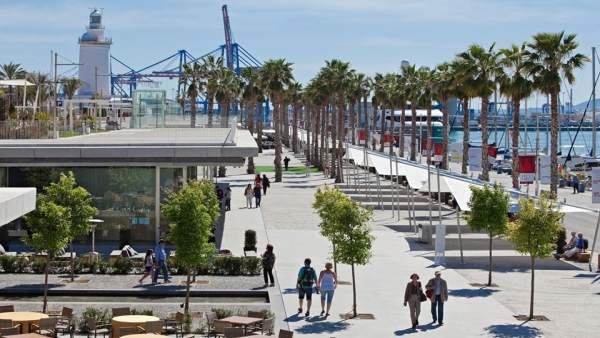 Málaga, puerto, turistas, turismo
