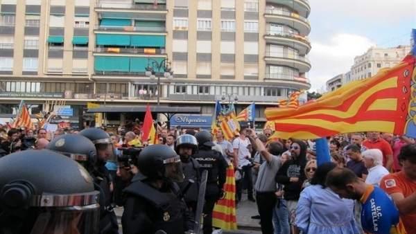 Incidentes en la manifestación del 9 d'Octubre