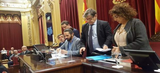 Momento de la votación en la que fue escogido Jaime Far