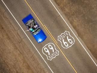 Cruzando la Ruta 66