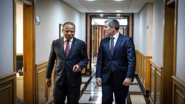 Correia e Silva y Clavijo en la V reunión de alto nivel Cabo Verde-Canarias