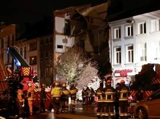 Al menos una decena de heridos tras una explosión en un edificio de Amberes