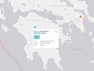 Un terremoto de magnitud 4,4 sacude el sur de Grecia