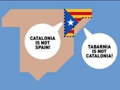 Tabarnia triunfa en las redes sociales con su 'hola' a España