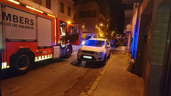 Onze joves intoxicats en l'incendi d'una residència universitària a Alfara del Patriarca (València)