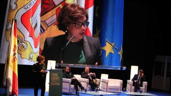 La vicepresidenta en Soria inaugura 'Think Europe'