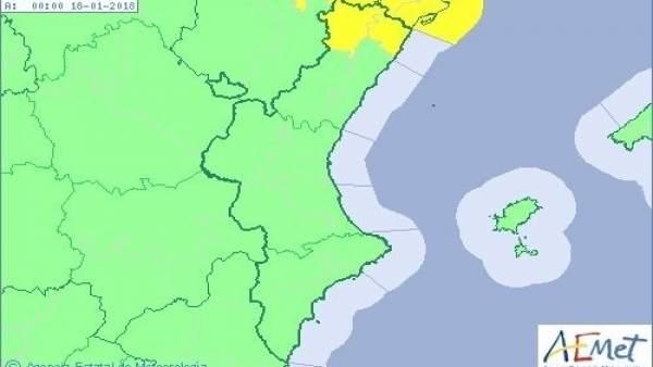 Temperatures de fins a 21ºC i fort vent aquest dimarts a la Comunitat Valenciana