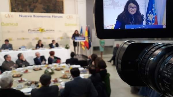 "Oltra advoca per crear una identitat valenciana basada en el ""patriotisme de la gent"" entorn del benestar social"