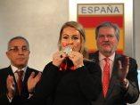 Lydia Valentín recibe la plata de Pekín 2008