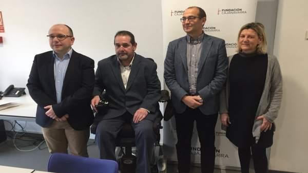 Alberto Lafuente, Javier Miranda, Javier Fernández y Gemma Botín