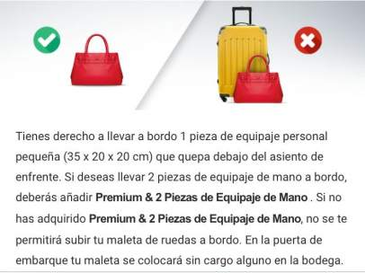 Los viajeros de Ryanair, ante el pago extra por el equipaje de mano: