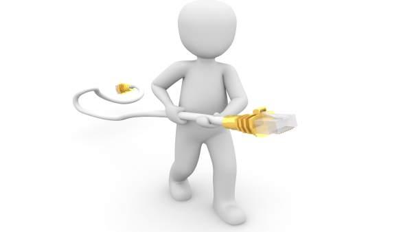 Conexión a Internet ADSL fibra ethernet