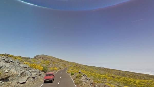 Acceso al Roque de los Muchachos (LP-4)