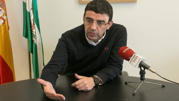 Mario Jiménez, durante la entrevista