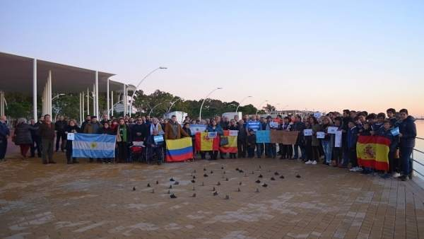 Homenaje a Renzo David Martín, tripulante del submarino argentino desaparecido.