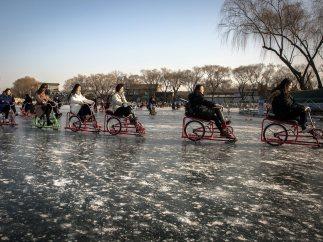 Pedaleando sobre hielo