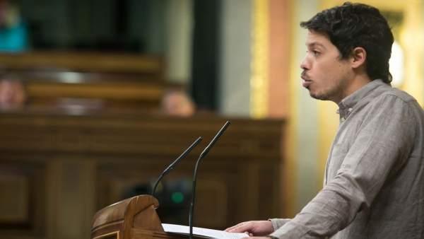 Segundo González, diputado de Unidos Podemos, en el Pleno del Congreso