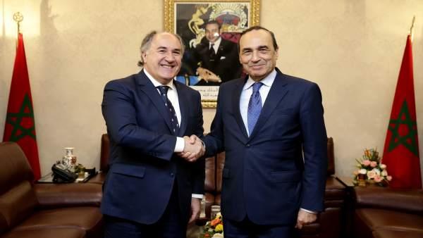 Landaluce y el presidente del Congreso de Marruecos