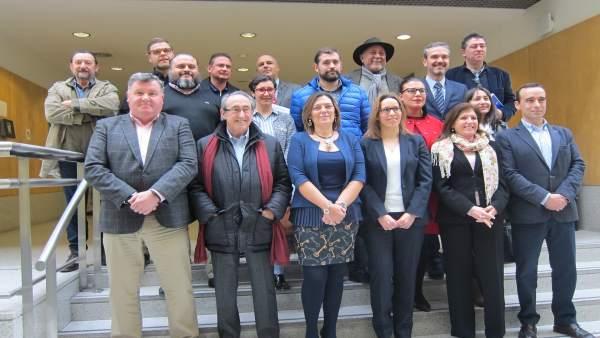 Marcos junto a los presidentes de los consejos reguladores de CyL