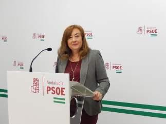 Soledad Pérez en la sede del PSOE de Córdoba