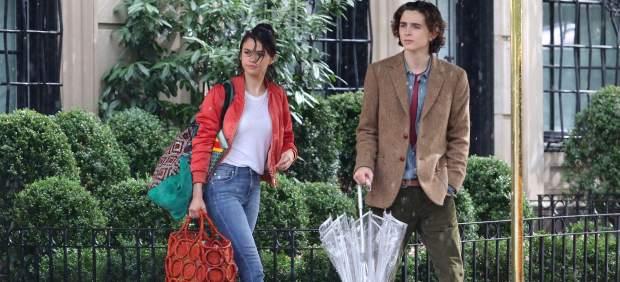 Timothée Chalamettambién donará su salario por la última película de Woody Allen