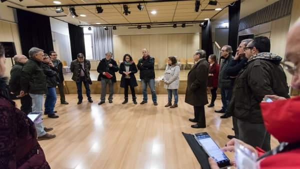 Santisteve, Giner y Asensio han dado a conocer el nuevo servicio en Santa Isabel