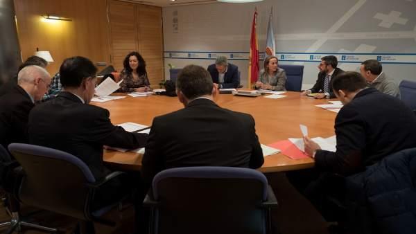 Ethel Vázquez y la comisión de seguimiento del plan de transporte público