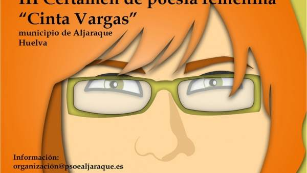 Cartel del certamen de poesía 'Cinta Vargas'.