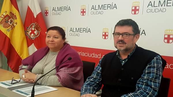 Amalia Román y Rafael Esteban (IU)