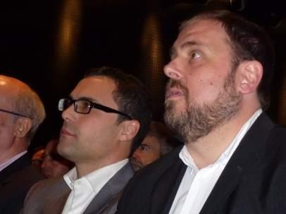 Núm.1 de ERC por Girona Roger Torrent y Oriol Junqueras.