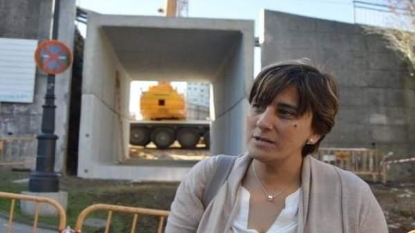 La Concejala De Infraestructuras, Ana Rivas (PSOE), En Las Obras De San Melchor