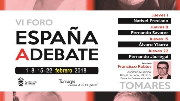 Cartel de España a debate.