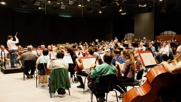 Ensayo de la Orquesta Sinfónica de Baleares