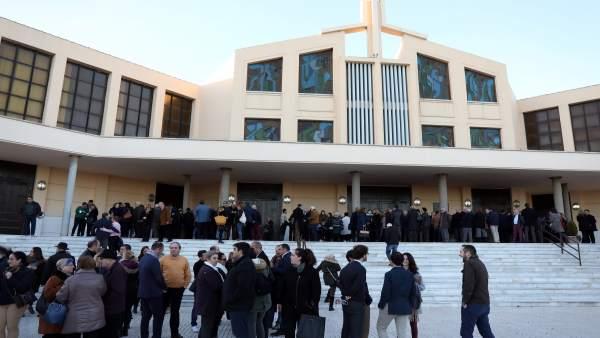 Misa del parlametnario andaluz Antonio Garrido Moraga
