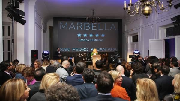 La alcaldesa de Marbella (Málaga), Ángeles Muñoz, en las vísperas de Fitur